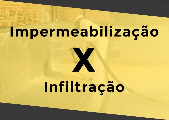 Impermeabilização x Infiltração Es